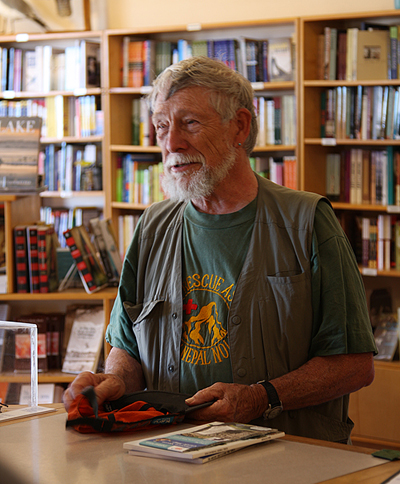 Gary Snyder at the Committee bookstore!