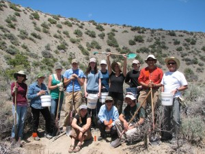 Staff and volunteers after planting 100 seedlings. Photo by Erika Obedzinski