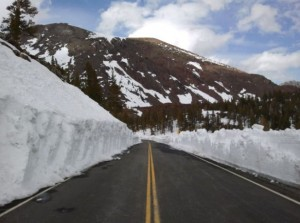 Tioga Road just past Tioga Pass Resort. May 7, 2011 photo by Greg Reis.