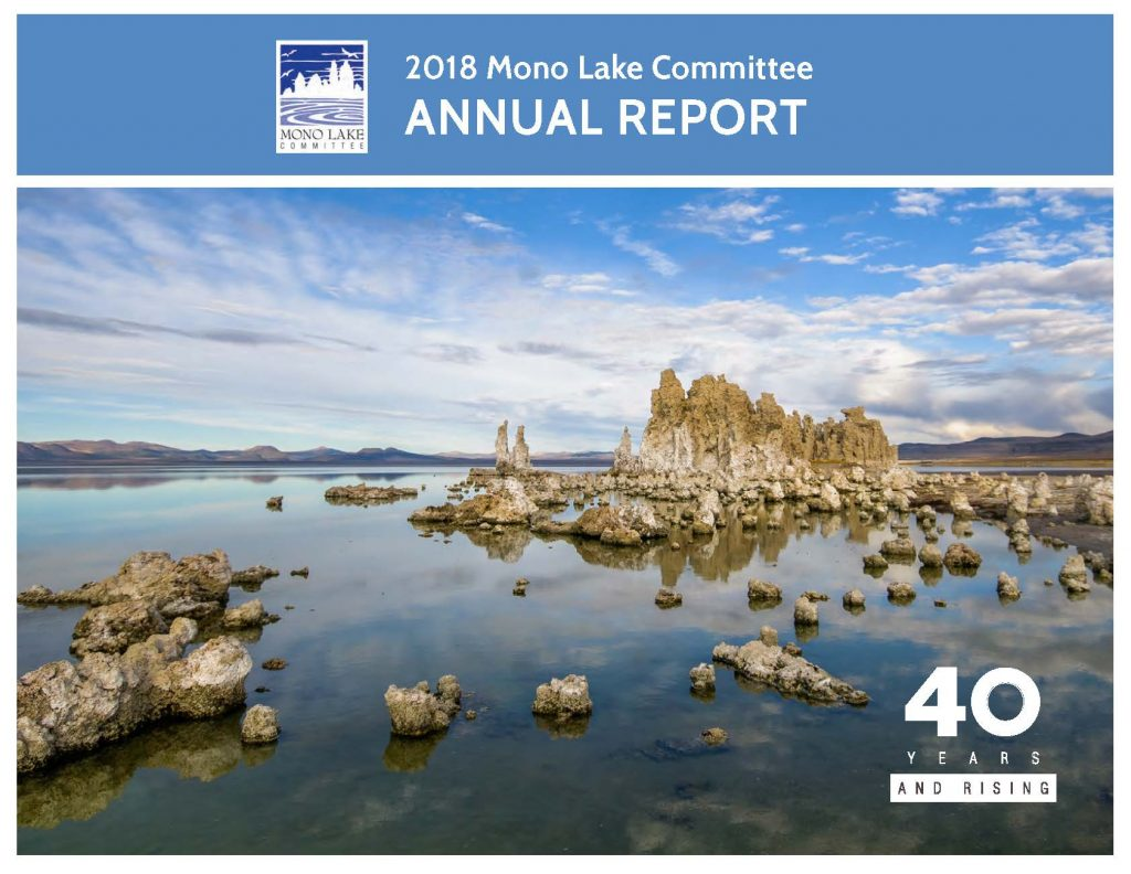 2018 Mono Lake Committee Annual Report cover